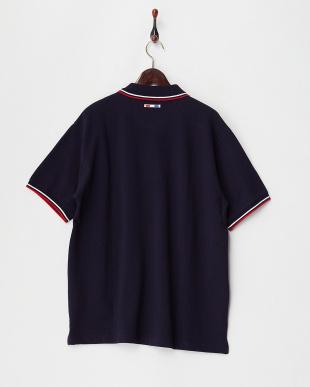 68/青系I(ネイビー)  エンブレム刺繍ポロシャツ見る