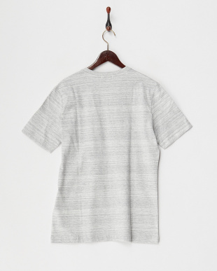 グレー  杢カラーポケットTシャツ見る