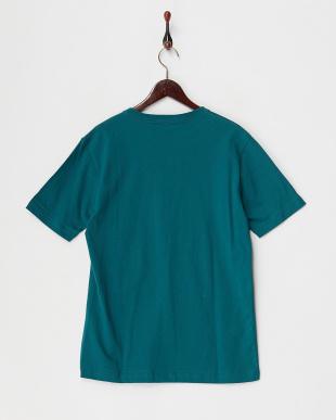 グリーン  ロゴ刺繍Tシャツ見る