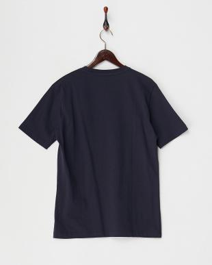 ネイビー  ストライプポケットTシャツ見る