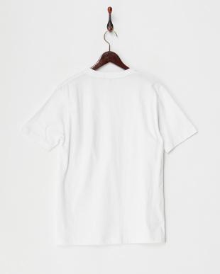 ホワイト  ストライプポケットTシャツ見る