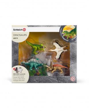 ミニ恐竜とジオラマパズルセット 森林ゾーン見る