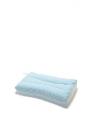 ブルー 首にやさしい枕 ハードタイプ見る