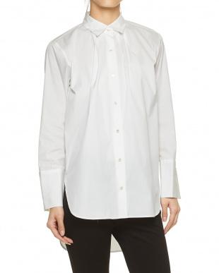 ホワイト ビッグボリュームシャツ見る