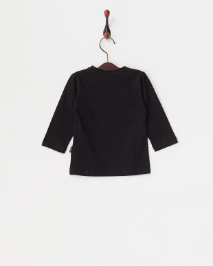 ブラック  スニーカープリント長袖Tシャツ見る