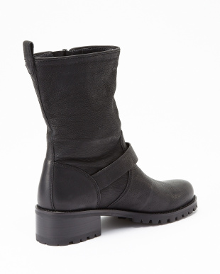 BLACK LEATHER  HEMLOCK BOOT見る