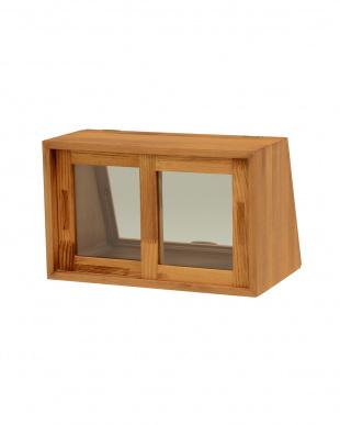 ナチュラル カウンター上ガラスケース 40×25×25cm見る