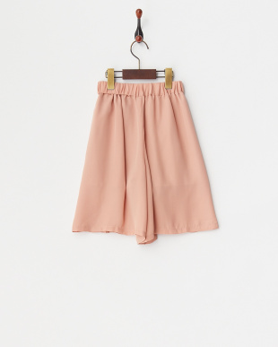 ライトピンク  デザインプリーツスカーチョ見る