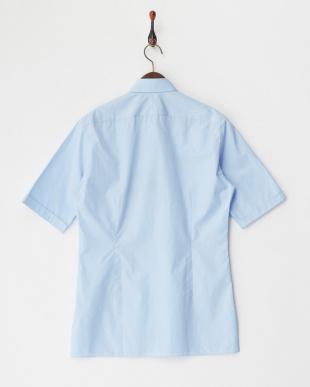 ペールブルー スリムフィットシャツ見る