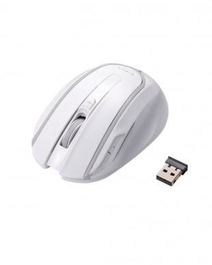 ホワイト/ブルー 5ボタンワイヤレスマウス+ローマ字入力マウスパッド見る