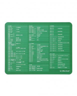 ブラック/グリーン Bluetoothテンキーボード+爆速効率化マウスパッド for Excel見る