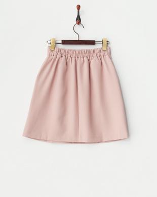 ピンク  ブッチャー無地台形スカート見る