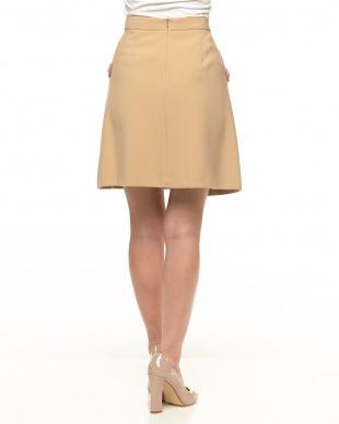 ベージュ  CANTICO デザインポケットスカート見る