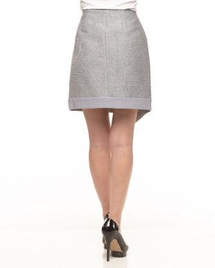 グレー  PERNICE ラップ風デザインスカート見る