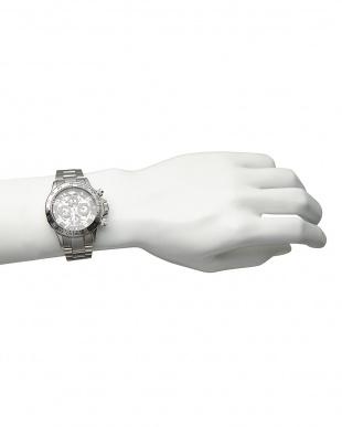 シルバー/ブラック/ブラック  機械式腕時計 003|MEN見る