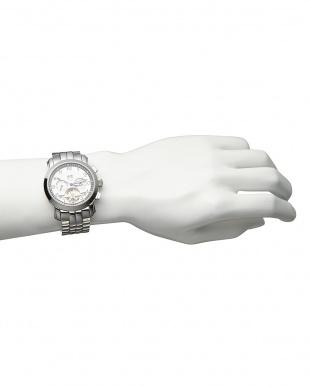 ホワイト/ホワイト  機械式腕時計 008 MEN見る