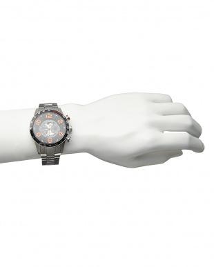 オレンジ  機械式腕時計 020|MEN見る