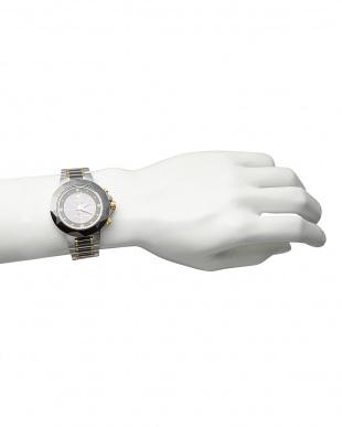 ブラック  ダイヤ付き ソーラー電波腕時計 024|MEN見る