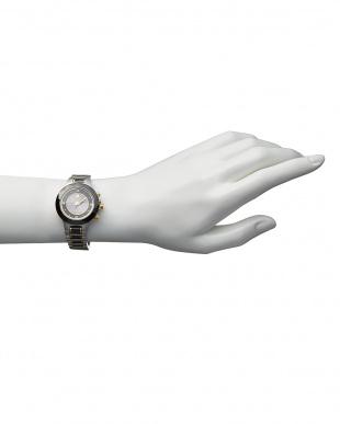 ブラック ダイヤ付き ソーラー電波腕時計 024 WOMEN見る