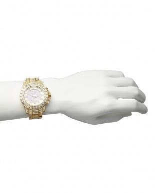 ゴールド  ソーラー電波腕時計 025|MEN見る