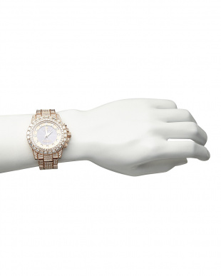 ピンクゴールド  ソーラー電波腕時計 025|MEN見る