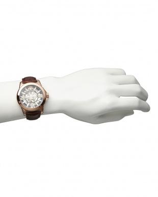 ピンクゴールド  機械式腕時計 042|MEN見る