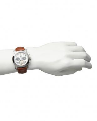 ホワイト/ブラック  機械式腕時計(手巻きのみ)044|MEN見る