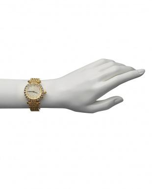 ゴールド ルビー付き 電波腕時計 088|WOMEN見る