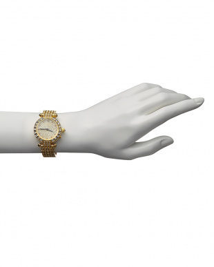 ゴールド  ルビー付き 電波腕時計 088 WOMEN見る