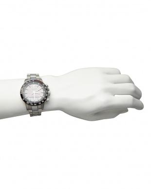 シルバー  ソーラー電波腕時計 094|MEN見る