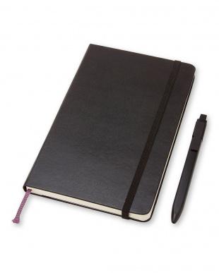 ブラック ノートブック&ペンパック/横罫・ラージサイズ見る