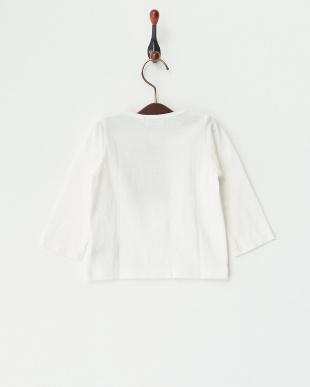 ホワイト 甘撚天竺 レースベビーL/S Tシャツ見る