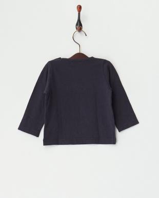 ネイビー 甘撚天竺 レースベビーL/S Tシャツ見る