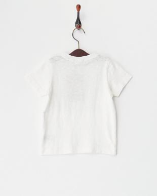ホワイト  ムラ天竺 ciel d'eteプリントTシャツ見る