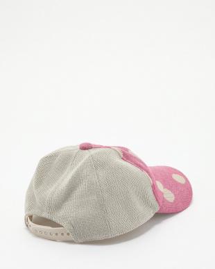 ピンク  ドラロン綿 水玉メッシュキャップ見る