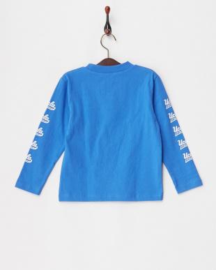 ブルー  プリント長袖Tシャツ KIDS見る