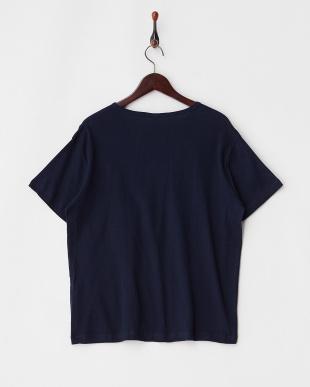 ネイビー  エコテックス VネックTシャツ見る