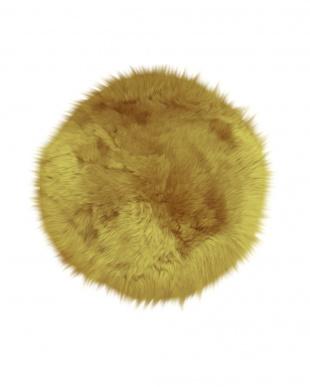 サンドベージュ  ムートンシートクッション 円形約60cm見る