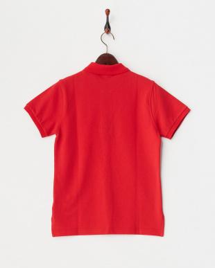レッド  半袖ポロシャツ|WOMEN見る