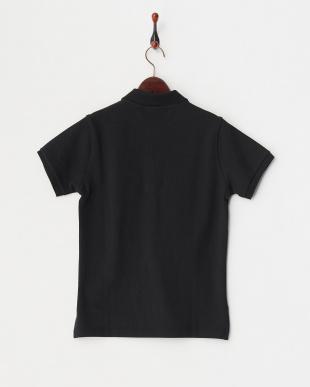 ブラック  半袖ポロシャツ|WOMEN見る