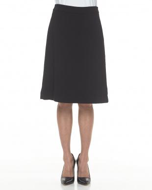 BLACK ダブルクロスAラインスカート見る