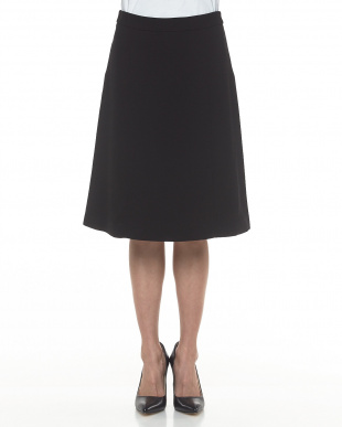 BLACK フォーマルストレッチAライン膝丈スカート見る