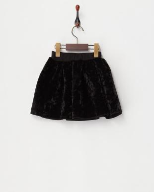 クロ  ダイバー素材フレアスカート見る