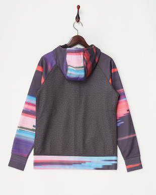 True Black Heather / Flynn Glitch Women's Scoop Hoodie見る