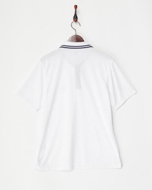 ホワイト  ワンポイントポロシャツ MEN見る