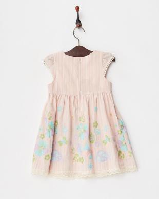 ピンク  刺繍加工ジャンパースカート見る
