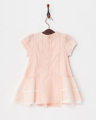 ピンク  カラミ織ワンピース見る