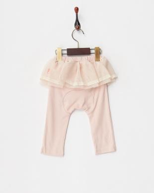 ピンク  スカート付スパッツ見る