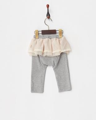 杢グレイ  スカート付スパッツ見る