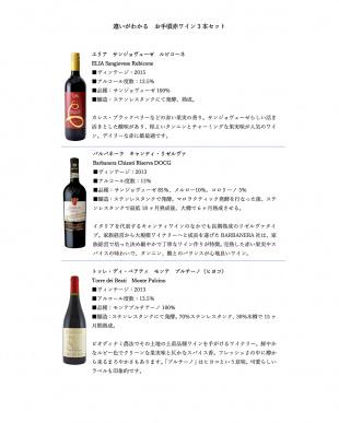家飲みに最適 違いがわかるお手頃イタリア赤ワイン3本セット見る